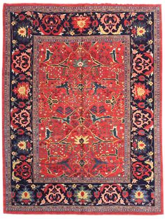 Geometric Oriental Rugs Gallery: Persian Bijar Rug, Hand-knotted in Persia; size: 8 feet 7 inch(es) x 11 feet 9 inch(es) Persian Carpet, Persian Rug, Art Chinois, Asian Rugs, Persian Culture, Types Of Carpet, Art Japonais, Patterned Carpet, Modern Carpet