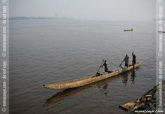 Congo Brazzaville, dugout on the Congo
