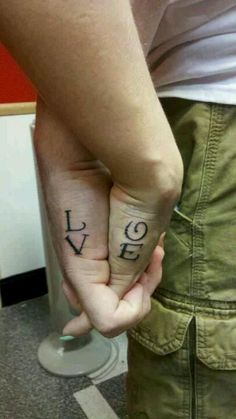great couple tattoo!
