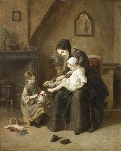 Getting dressed by Pierre Edouard Frère