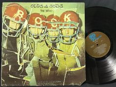 The Who Odds & Sods Record 1974 MCA-2126 Die-Cut Cover Complete Poster & Lyrics