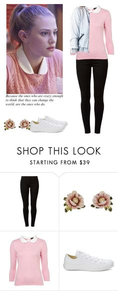 """""""Betty Cooper - Riverdale"""" by shadyannon ❤ liked on Polyvore featuring Dorothy Perkins, Les Néréides, Converse and Charlotte Russe"""