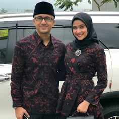 Kebaya Dress, Hijab Dress, Hijab Outfit, Blouse Batik Modern, Batik Muslim, Dress Batik Kombinasi, Batik Couple, Cute Muslim Couples, Modern Hijab