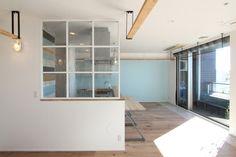LIVING/DINING/KITCHEN/LOFT/リビング/ダイニング/キッチン/フローリング/棚/室内窓/フィールドガレージ/FieldGarage INC./リノベーション/renovation/house/home