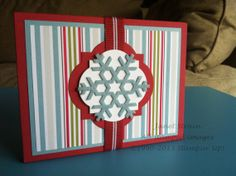 Winter Notecards - set of 6 in Giftable Package (Stampin Up!)