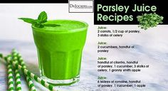 Parsley is also known as a powerful diuretic that reduces blood pressure and enhances kidney function. In particular, parsley increases sodium and water excretion thru urine and increases potassium reabsorption into the kidneys (7). This is...
