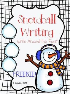 Print, cut, and laminate to review sight words during Literacy Centers. Post snowballs with sight words around the room for students to write on recording sheet. Throw in a tub for students to practice reading, and writing on whiteboards. This FREEBIE includes: -50 Sight Words -Extra Snowballs to add your own words -Recording Sheet Great for back to school in January to review words!