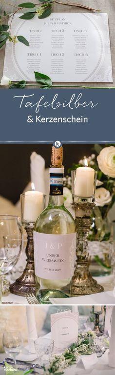 Die Hochzeitspapeterie 'Chantilly' in taupe spielt mit illustrierten Spitzen-Elementen. Vom Tischplan bis zur Menükarte.