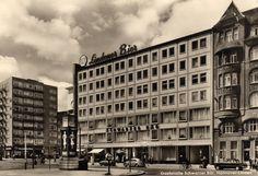 HANNOVER* Linden 1960.Schwarzer Bär   1943 wurde das alte Gebäude zerstört.