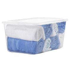 Bella 54-qt Clear Tote with Standard Snap Lid