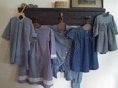 19th century calico dresses