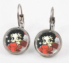 Handmade Jewelry Betty Boop Leverback Earrings *** You can get more details by clicking on the image.