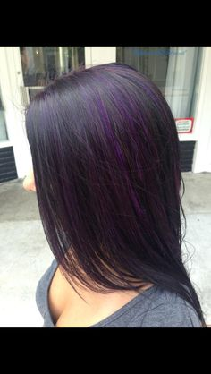 purple hair purple highlights