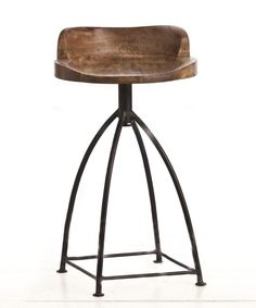Henson Wood/Iron Counter Stool <font color=a8bb35> NEW</font>