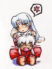 Chibi Sesshomaru and Chibi Inuyasha