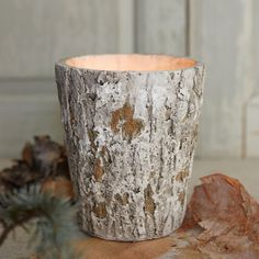 Cast Wood Candle
