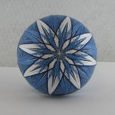 Temari Balls Designs | Temari: Winter Skies | From My Wandering Mind