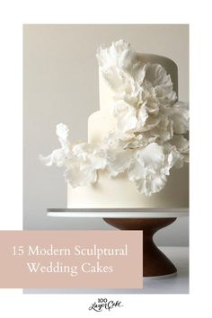 From delicate layers of ruffles that look like carefully torn paper to hand-painted leaves and flowering branches, these sculptural wedding cakes are seriously breathtaking! #cake #weddingcake #modernwedding Blush Wedding Cakes, Hand Painted Cakes, Purple Trees, 100 Layer Cake, Torn Paper, Tree Photography, Cake Gallery, Painted Leaves, Gorgeous Cakes