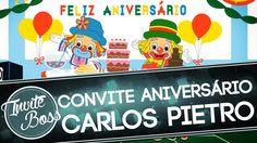 Convite Animado Aniversário (Patati Patatá) - Carlos Pietro