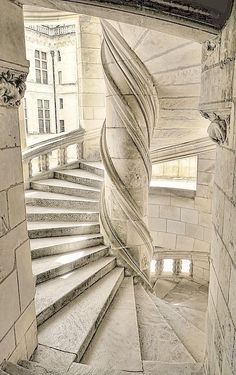 "audreylovesparis: "" Stairs in the Château de Chambord, France """