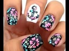 Check out these Cute floral nail designs, simple flower nail designs, flower nail art designs to inspire you towards fashionable nails like you never imagined before. Nautical Nail Designs, Nautical Nails, Cute Nail Designs, Pretty Designs, Anchor Nail Designs, Spring Nail Art, Nail Designs Spring, Spring Nails, Summer Nails