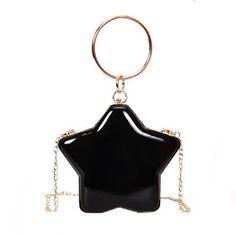 Patent Leather Star Shaped Crossbody Handbag fdfff7c732050