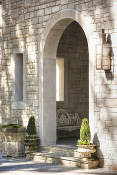 Lake Residence - transitional - Entry - Linda McDougald Design | Postcard from Paris Home