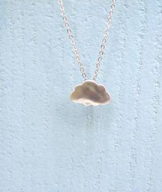 Rain Cloud Necklace Silver Cloud Pendant Tiny cloud necklace