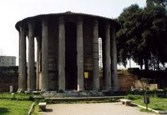 Die kreisförmige Tempel der Göttin Hestia (Vesta) aus Forum Boarium. The circular Temple of the Goddess Hestia (Vesta) at Forum Boarium