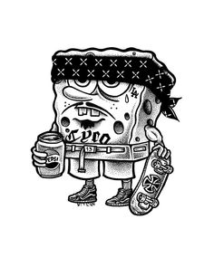 Gangster Spongebob Coloring Pages - From the thousand ...