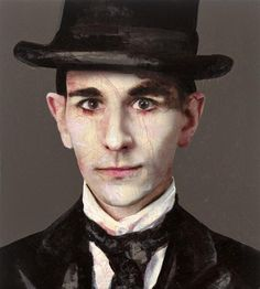 "amare-habeo: ""Lita Cabellut (Spanish, born 1961) Franz Kafka, 2011 mixed media on canvas """