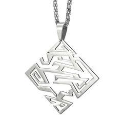 R&B Schmuck Herren Anhänger Edelstahl - Beeindruckender Transformer Style, Geometrische Form, mit Kette (Silber): 20,90€