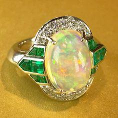 Amazing Jelly opal ring by Oscar Heyman