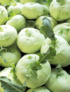 Kohlrabi grown by the kohlrabi mafia. Yes, there really is such a thing or this vegetable would not cost $2.49/lb.