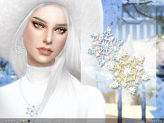 Laura Earrings & Necklace by toksik at TSR via Sims 4 Updates