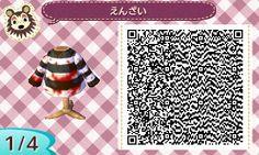 ACNL QR CODE-Bloody Striped Shirt