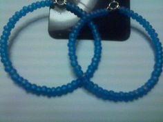 handmade hoops blue