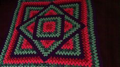 Ravelry: Squared Diamond Granny Throw pattern by Chris Apao