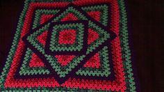 Ravelry: Squared Diamond Granny Throw pattern by Chris Apao