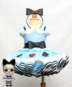 Curious qt lol surprise doll tutu set-Curious qt lol surprise outfit-Curious qt lol dress Diy Girls Costumes, Diy Halloween Costumes, Doll Fancy Dress, Blue Tutu, Doll Party, Doll Costume, Lol Dolls, Wedding With Kids, Baby Dress