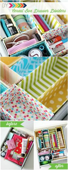 """45 Amazingly Creative #Repurposed Cereal Box #Crafts and #Projects - On my own, I have always been able to plough through cereal boxes. But after I became a mom, I can't seem to keep up with the demand! We seriously seem to be buying new boxes of cereal all the time for the kids' breakfast. But the lame thing is we seem to be throwing them away all the time as well. And even though we recycle, all I can think is, """"Surely these things have to be useful for something."""" via @vanessacrafting"""