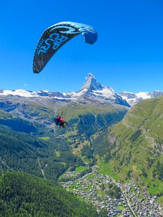 "The most amazing, once-in-a-lifetime experience!! Go paragliding with the most breathtaking, jaw-dropping views EVER with the Matterhorn in the background!!! If you are ever anywhere near Switzerland you HAVE to put paragliding in Zermatt on your bucket list!!!! If you mention ""Kevin & Amanda"" at FlyZermatt.com you'll get a free T-shirt!! They're super cute too!"