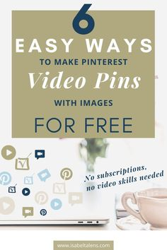 Grow your business with Pinterest video pins for your business online marketing. No video editing skills needed. No subscriptions. 6 easy ways to make Pinterest video pins to increase your Pinterest impressions and website traffic. Marketing tips. Great for blogging marketing and social media marketing for selling online, grow your business opportunities and a successful blog. Pinterest for business and for creative business ideas. #websitetraffic #makemoney #videopins #pinterestforbusiness Business Tips, Online Business, Business Opportunities, Creative Business, Social Media Tips, Social Media Marketing, Online Marketing, Digital Marketing, 3d Video