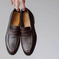 One of the most comfortable new additions of the year via Looking forward to bringing them out again next spring . Your Shoes, Men's Shoes, Dress Shoes, Penny Loafers, Loafers Men, Goodyear Welt, Looking Forward, Stylish Men, Oxford Shoes