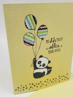 Sale-A-Bration Karten und Umschläge Tutti Frutti (Teil 2) - Zauberhaftes mit Stempel und Papier, Party Pandas