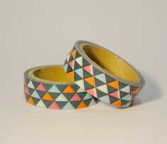 Colour Triangles Washi Tapes / Japanese by whimsicalcraftss, $3.00