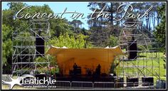 Concert in the Park beige stage tent Tent, Stage, Neon Signs, Park, Concert, Store, Tents, Parks, Concerts