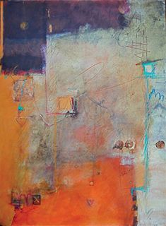 It's in the Telling (mixed watermedia, 30x22) by Elaine Daily-Birnbaum
