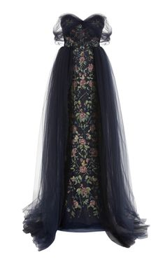 Shop Off The Shoulder Tulle Ballgown. This **Marchesa** Off The Shoulder Tulle Ballgown features a fully embroidered body with a draped tulle skirt. Pretty Outfits, Pretty Dresses, Georgina Chapman, Evening Dresses, Prom Dresses, Marchesa, Beautiful Gowns, Dream Dress, Dress To Impress