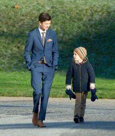 (L) Prince Nikolai and Prince Hernik during the Danish Royal Christmas Family gathering 2014 at Fredensborg Palace